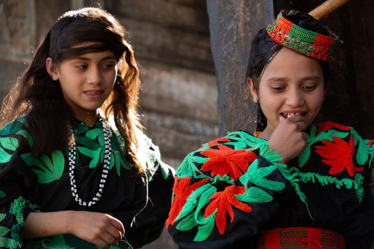 Two young Kalasha