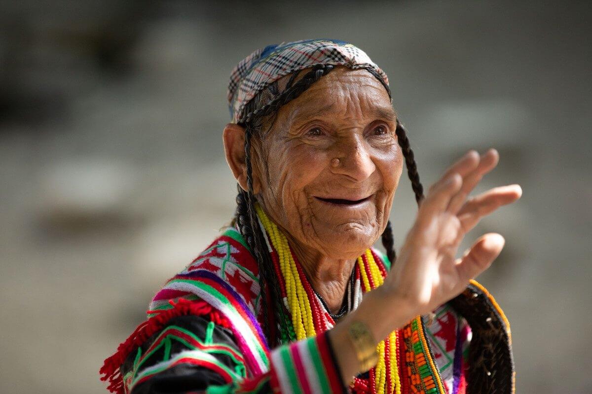old Kalasha woman