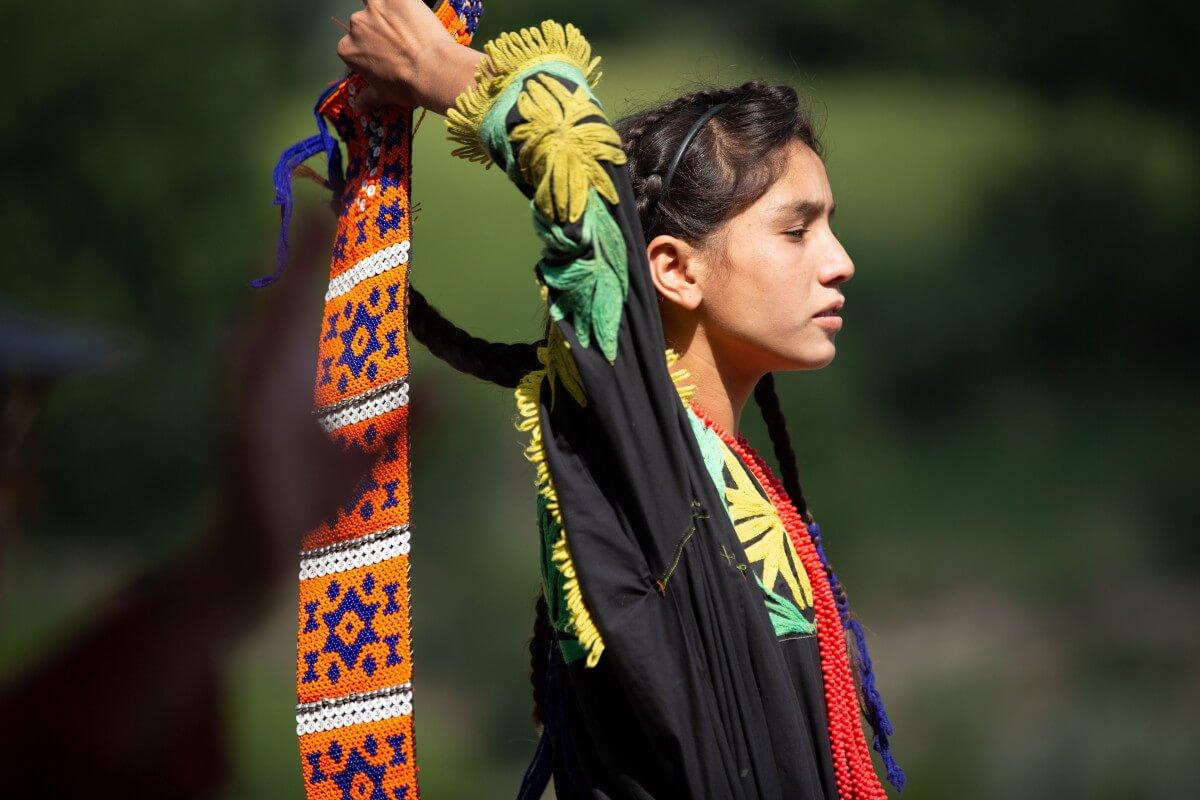 young Kalasha girl
