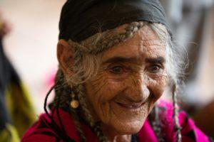 Portrait of an old Kalasha woman